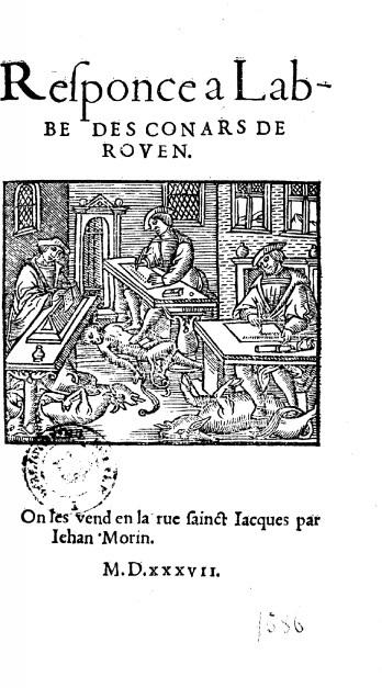 Responce à l'abbé des Conards de Rouen
