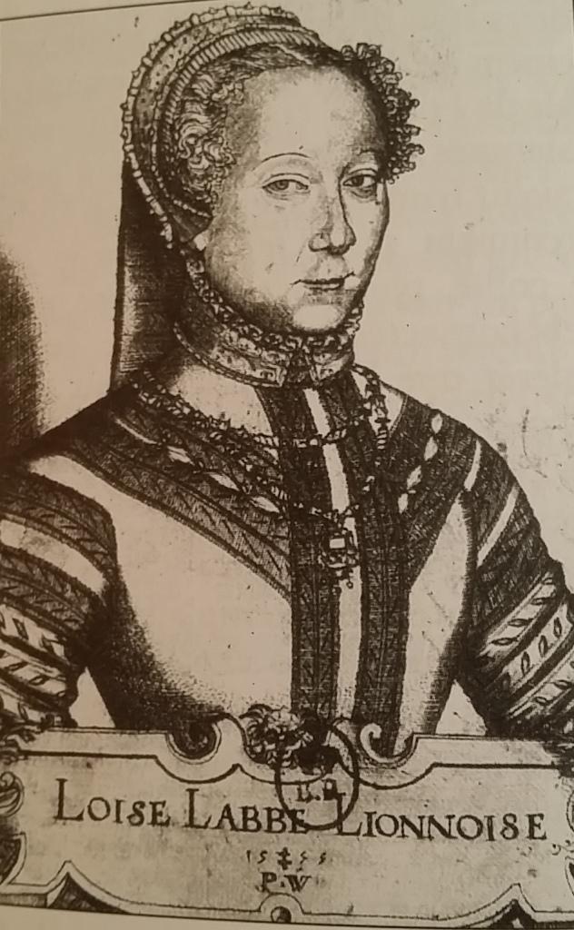 Portrait de Louise Labé Lyonnaise, gravure de Pierre Woeiriot, 1555 (source : BNF, cabinet des estampes).