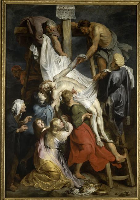 Rubens, Descente de croix, peinture à l'huile (1617), Lille, Palais des Beaux-Arts.