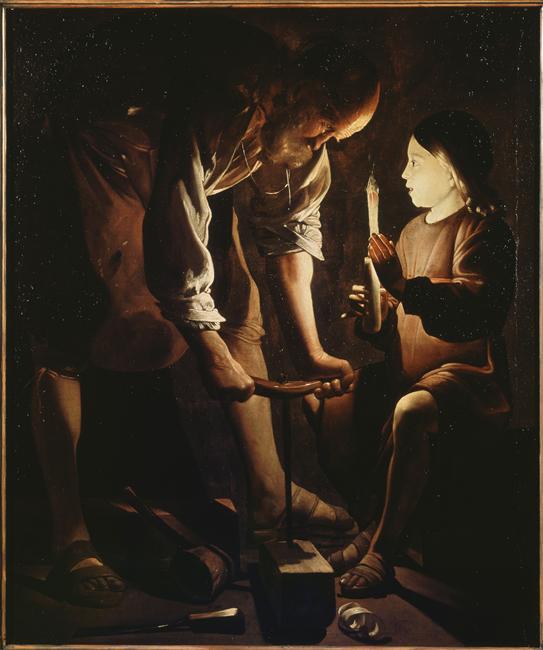 Georges de La Tour, Saint-Joseph charpentier (c. 1642), huile sur toile, Paris, Louvre.