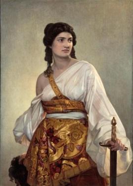 August Riedel, Judith (huile sur toile du XIXe siècle) Munich, Bayerische Staatsgemäldesammlungen, Neue Pinakothek.
